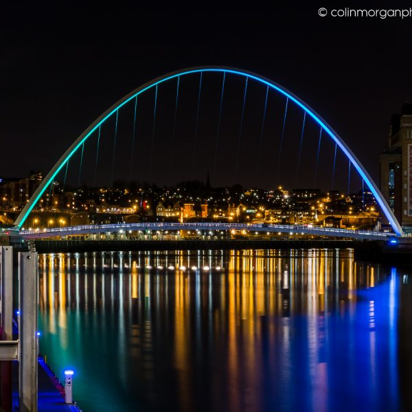 Millennium Bridge and The Baltic Gateshead. Colin Morgan Photography
