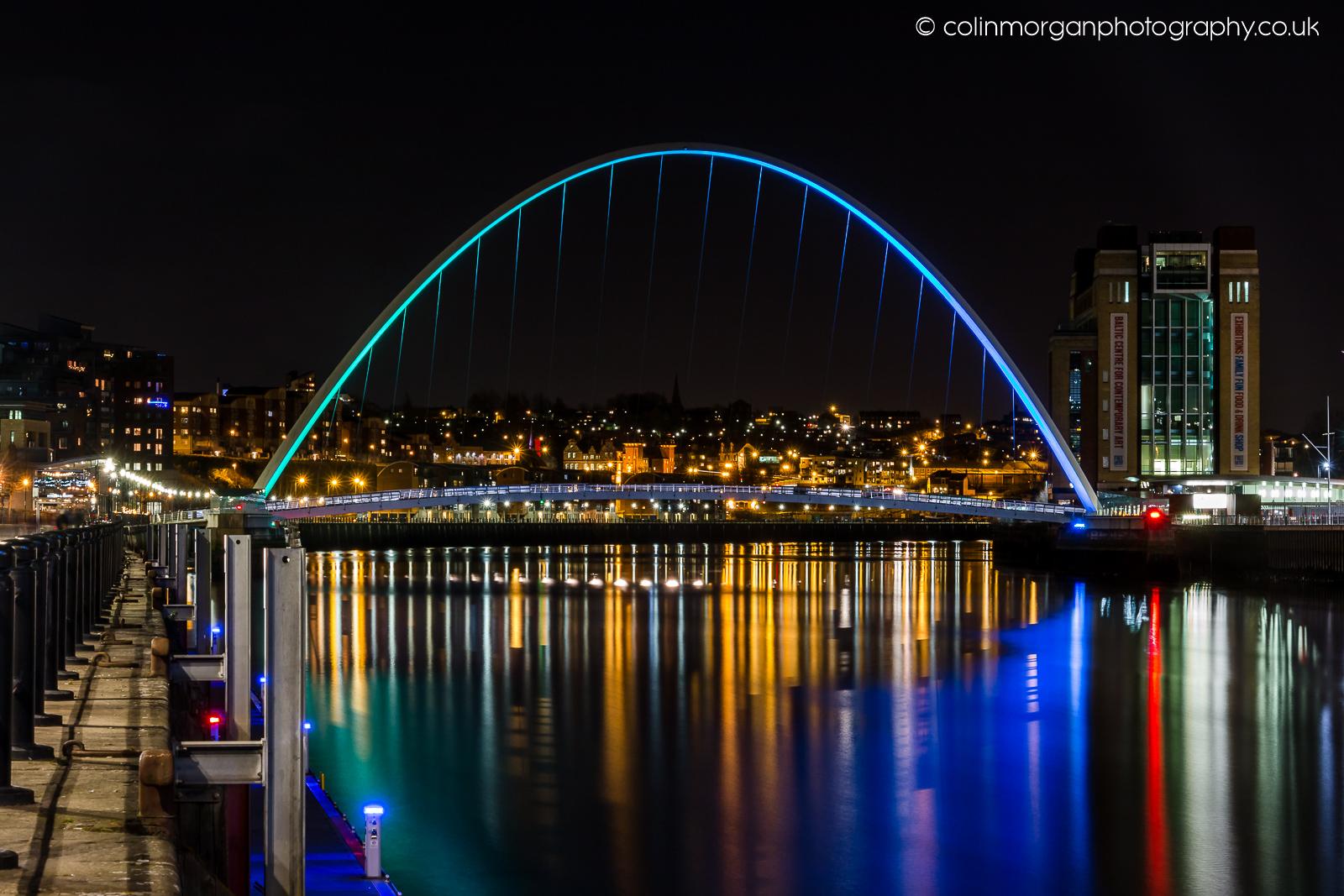 Millennium Bridge and The Baltic Gateshead. Colin Morgan Photography
