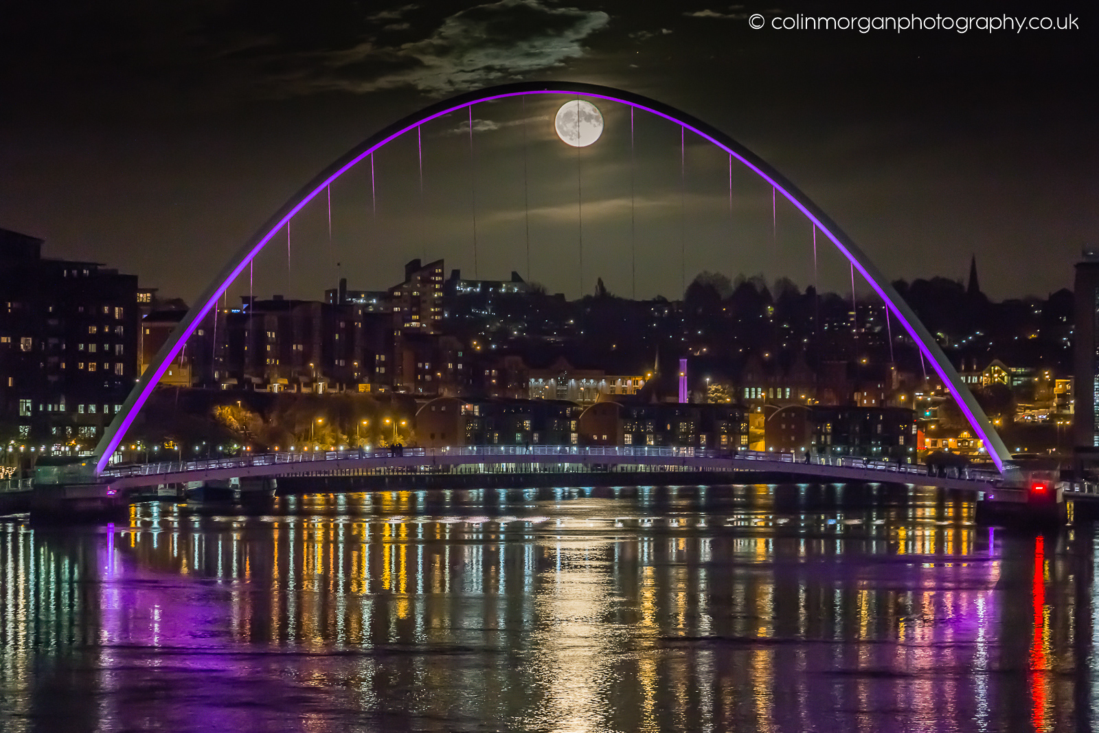 Full Moon on the Tyne