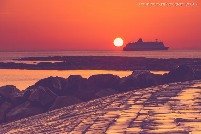 Colin Morgan Photography © DFDS Ferry Arriving at the Port of Tyne at Sunrise. Ref 7919 Seascape Photograph | Print | Canvas
