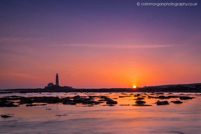 Colin Morgan Photography © Sun Rise at St Mary's Lighthouse, Ref 7547 Seascape Photograph | Print | Canvas