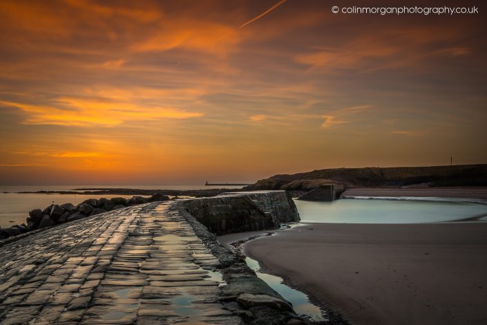 Just before Sunrise at Cullercoats Bay. Ref 7876. Colin Morgan Photography © Seascape Photograph | Print | Canvas