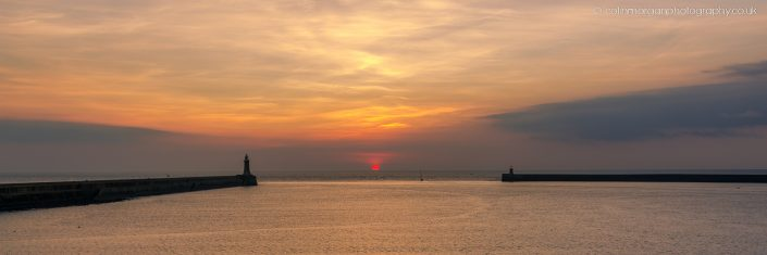 Sunrise at Tynemouth Piers. Ref 0648 Colin Morgan Photography © Seascape Photograph | Print | Canvas