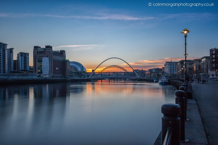 Colin Morgan Photography Tyne January Sunset. Ref 9055 © Cityscape Photograph | Print | Canvas