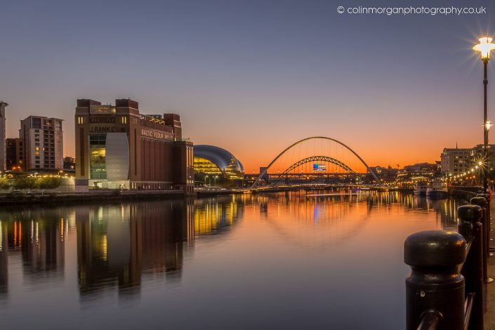 Colin Morgan Photography Tyne Sunset. Ref 8168 © Cityscape Photograph | Print | Canvas
