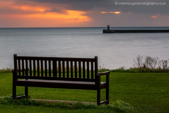Tynemouth Sunrise Seat with a View. Ref 1223 Colin Morgan Photography © Seascape Photograph | Print | Canvas